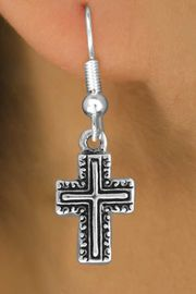 <bR>               EXCLUSIVELY OURS!!<BR>CLICK HERE TO SEE 120+ EXCITING<BR>   CHANGES THAT YOU CAN MAKE!<BR>              LEAD & NICKEL FREE!!<BR>    W512SE - CURLICUE CROSS ON<Br>     EARRINGS FROM $4.50 TO $8.35