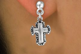 <bR>               EXCLUSIVELY OURS!!<BR>CLICK HERE TO SEE 120+ EXCITING<BR>   CHANGES THAT YOU CAN MAKE!<BR>              LEAD & NICKEL FREE!!<BR>    W513SE - LACE TRIM CROSS ON<Br>    EARRINGS FROM $4.50 TO $8.35