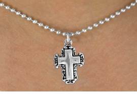 <bR>               EXCLUSIVELY OURS!!<BR>CLICK HERE TO SEE 120+ EXCITING<BR>   CHANGES THAT YOU CAN MAKE!<BR>              LEAD & NICKEL FREE!!<BR>   W513SN - LACE TRIM CROSS ON<BR>     NECKLACE FROM $4.50 TO $8.35