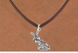 <bR>               EXCLUSIVELY OURS!!<BR>CLICK HERE TO SEE 120+ EXCITING<BR>   CHANGES THAT YOU CAN MAKE!<BR>              LEAD & NICKEL FREE!!<BR>  W514SN - JESUS WITH CROSS ON<BR>    NECKLACE FROM $4.50 TO $8.35