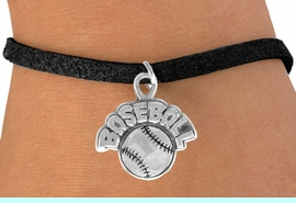"""<bR>              EXCLUSIVELY OURS!!<BR>CLICK HERE TO SEE 120+ EXCITING<BR>   CHANGES THAT YOU CAN MAKE!<BR>              LEAD & NICKEL FREE!!<BR>   W523SB - """"BASEBALL"""" AND BALL<Br>         ON BRACELET AS LOW AS $4.50"""