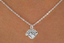 "<bR>               EXCLUSIVELY OURS!!<BR>CLICK HERE TO SEE 120+ EXCITING<BR>   CHANGES THAT YOU CAN MAKE!<BR>              LEAD & NICKEL FREE!!<BR> W523SN - ""BASEBALL"" AND BALL &<BR>       NECKLACE AS LOW AS $4.50"