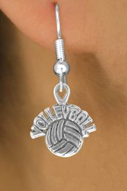 """<bR>               EXCLUSIVELY OURS!!<BR>CLICK HERE TO SEE 120+ EXCITING<BR>   CHANGES THAT YOU CAN MAKE!<BR>              LEAD & NICKEL FREE!!<BR>   W525SE - """"VOLLEYBALL"""" AND BALL & <Br>        EARRINGS FROM $4.50 TO $8.35"""