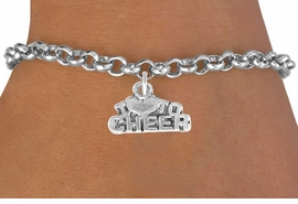 "<bR>               EXCLUSIVELY OURS!!<BR>CLICK HERE TO SEE 120+ EXCITING<BR>   CHANGES THAT YOU CAN MAKE!<BR>              LEAD & NICKEL FREE!!<BR>   W526SB - ""I LOVE TO CHEER"" &<Br>        BRACELET AS LOW AS $4.50"