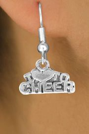 "<bR>               EXCLUSIVELY OURS!!<BR>CLICK HERE TO SEE 120+ EXCITING<BR>   CHANGES THAT YOU CAN MAKE!<BR>              LEAD & NICKEL FREE!!<BR>   W526SE - ""I LOVE TO CHEER"" &<Br>       EARRINGS FROM $4.50 TO $8.35"