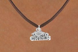 """<bR>               EXCLUSIVELY OURS!!<BR>CLICK HERE TO SEE 120+ EXCITING<BR>   CHANGES THAT YOU CAN MAKE!<BR>              LEAD & NICKEL FREE!!<BR>   W526SN - """"I LOVE TO CHEER"""" &<BR>        NECKLACE AS LOW AS $4.50"""