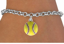 <bR>               EXCLUSIVELY OURS!!<BR>CLICK HERE TO SEE 120+ EXCITING<BR>   CHANGES THAT YOU CAN MAKE!<BR>     LEAD, CADMIUM, & NICKEL FREE!!<BR>        W527SB - YELLOW SOFTBALL<Br> BRACELET AS LOW AS $4.50 TO $8.35<BR>                                 &#169;2009