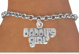 """<bR>               EXCLUSIVELY OURS!!<BR>CLICK HERE TO SEE 120+ EXCITING<BR>   CHANGES THAT YOU CAN MAKE!<BR>              LEAD & NICKEL FREE!!<BR>     W528SB - """"DADDY'S GIRL"""" &<Br>        BRACELET AS LOW AS $4.50"""