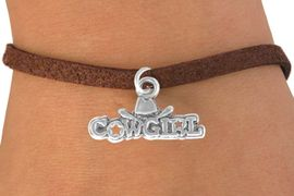 """<bR>               EXCLUSIVELY OURS!!<BR>CLICK HERE TO SEE 120+ EXCITING<BR>   CHANGES THAT YOU CAN MAKE!<BR>              LEAD & NICKEL FREE!!<BR>  W529SB - """"COWGIRL"""" MARQUEE<Br>      & BRACELET AS LOW AS $4.50"""