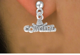 """<bR>               EXCLUSIVELY OURS!!<BR>CLICK HERE TO SEE 120+ EXCITING<BR>   CHANGES THAT YOU CAN MAKE!<BR>              LEAD & NICKEL FREE!!<BR>  W529SE - """"COWGIRL"""" MARQUEE <Br>      & EARRINGS FROM $4.50 TO $8.35"""