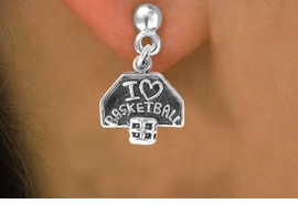 """<bR>             EXCLUSIVELY OURS!!<BR>CLICK HERE TO SEE 120+ EXCITING<BR> CHANGES THAT YOU CAN MAKE!<BR>             LEAD & NICKEL FREE!!<BR> W531SE - """"I LOVE BASKETBALL"""" &<Br>        EARRING  FROM $4.50 TO $8.35"""