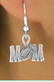 """<bR>               EXCLUSIVELY OURS!!<BR>CLICK HERE TO SEE 120+ EXCITING<BR>   CHANGES THAT YOU CAN MAKE!<BR>              LEAD & NICKEL FREE!!<BR>   W532SE - """"FOOTBALL"""" MOM & <Br>        EARRINGS FROM $4.50 TO $8.35"""