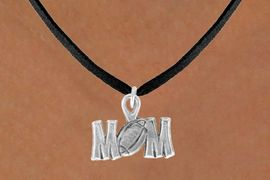 """<bR>               EXCLUSIVELY OURS!!<BR>CLICK HERE TO SEE 120+ EXCITING<BR>   CHANGES THAT YOU CAN MAKE!<BR>              LEAD & NICKEL FREE!!<BR> W532SN - """"FOOTBALL"""" MOM &<BR>       NECKLACE AS LOW AS $4.50"""