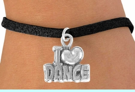 """<bR>               EXCLUSIVELY OURS!!<BR>CLICK HERE TO SEE 120+ EXCITING<BR>   CHANGES THAT YOU CAN MAKE!<BR>              LEAD & NICKEL FREE!!<BR>      W533SB - """"I LOVE DANCE"""" &<Br>       BRACELET AS LOW AS $4.50"""