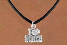 """<bR>               EXCLUSIVELY OURS!!<BR>CLICK HERE TO SEE 120+ EXCITING<BR>   CHANGES THAT YOU CAN MAKE!<BR>              LEAD & NICKEL FREE!!<BR>      W533SN - """"I LOVE DANCE"""" &<BR>       NECKLACE AS LOW AS $4.50"""