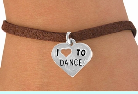 """<bR>               EXCLUSIVELY OURS!!<BR>CLICK HERE TO SEE 120+ EXCITING<BR>   CHANGES THAT YOU CAN MAKE!<BR>              LEAD & NICKEL FREE!!<BR>   W534SB - """"I LOVE TO DANCE"""" &<Br>       BRACELET AS LOW AS $4.50"""