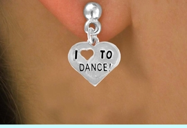 """<bR>              EXCLUSIVELY OURS!!<BR>CLICK HERE TO SEE 120+ EXCITING<BR>   CHANGES THAT YOU CAN MAKE!<BR>              LEAD & NICKEL FREE!!<BR>   W534SE - """"I LOVE TO DANCE"""" &<Br>        EARRINGS FROM $4.50 TO $8.35"""