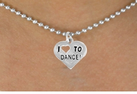 "<bR>               EXCLUSIVELY OURS!!<BR>CLICK HERE TO SEE 120+ EXCITING<BR>   CHANGES THAT YOU CAN MAKE!<BR>              LEAD & NICKEL FREE!!<BR>   W534SN - ""I LOVE TO DANCE"" &<BR>       NECKLACE AS LOW AS $4.50"