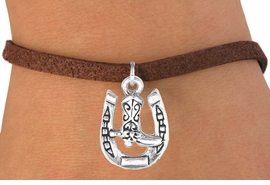<bR>               EXCLUSIVELY OURS!!<BR>CLICK HERE TO SEE 120+ EXCITING<BR>   CHANGES THAT YOU CAN MAKE!<BR>              LEAD & NICKEL FREE!!<BR>    W535SB - HORSESHOE & BOOT<Br>    ON BRACELET AS LOW AS $4.50