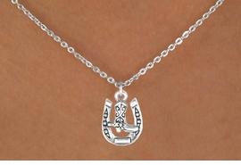 <bR>               EXCLUSIVELY OURS!!<BR>CLICK HERE TO SEE 120+ EXCITING<BR>   CHANGES THAT YOU CAN MAKE!<BR>              LEAD & NICKEL FREE!!<BR>    W535SN - HORSESHOE & BOOT<BR>    ON NECKLACE AS LOW AS $4.50