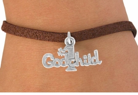 """<bR>               EXCLUSIVELY OURS!!<BR>CLICK HERE TO SEE 120+ EXCITING<BR>   CHANGES THAT YOU CAN MAKE!<BR>              LEAD & NICKEL FREE!!<BR>      W541SB - """"#1 GODCHILD"""" &<Br>       BRACELET AS LOW AS $4.50"""