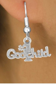 """<bR>               EXCLUSIVELY OURS!!<BR>CLICK HERE TO SEE 120+ EXCITING<BR>   CHANGES THAT YOU CAN MAKE!<BR>              LEAD & NICKEL FREE!!<BR>       W541SE - """"#1 GODCHILD"""" &<Br>       EARRINGS FROM $4.50 TO $8.35"""