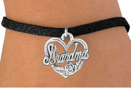 """<bR>               EXCLUSIVELY OURS!!<BR>CLICK HERE TO SEE 120+ EXCITING<BR>   CHANGES THAT YOU CAN MAKE!<BR>              LEAD & NICKEL FREE!!<BR>  W542SB - """"GRANDMA"""" & HEART<Br>    ON BRACELET AS LOW AS $4.50"""