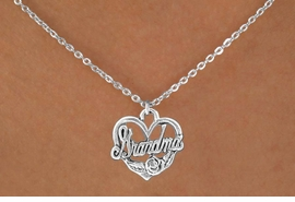 """<bR>               EXCLUSIVELY OURS!!<BR>CLICK HERE TO SEE 120+ EXCITING<BR>   CHANGES THAT YOU CAN MAKE!<BR>              LEAD & NICKEL FREE!!<BR> W542SN - """"GRANDMA"""" & HEART<BR>       NECKLACE AS LOW AS $4.50"""