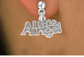 """<bR>               EXCLUSIVELY OURS!!<BR>CLICK HERE TO SEE 120+ EXCITING<BR>   CHANGES THAT YOU CAN MAKE!<BR>              LEAD & NICKEL FREE!!<BR>       W545SE - """"LITTLE ANGEL"""" &<Br>      EARRINGS FROM $4.50 TO $8.35"""