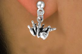 """<bR>              EXCLUSIVELY OURS!!<BR>CLICK HERE TO SEE 120+ EXCITING<BR>   CHANGES THAT YOU CAN MAKE!<BR>              LEAD & NICKEL FREE!!<BR>  W547SE - """"STRIKE"""" BALL & PINS<Br>    ON EARRINGS  FROM $4.50 TO $8.35"""