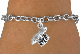 "<bR>               EXCLUSIVELY OURS!!<BR>CLICK HERE TO SEE 120+ EXCITING<BR>   CHANGES THAT YOU CAN MAKE!<BR>              LEAD & NICKEL FREE!!<BR>          W549SB - ""CHEF"" HAT & <Br>       BRACELET AS LOW AS $4.50"