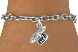 """<bR>               EXCLUSIVELY OURS!!<BR>CLICK HERE TO SEE 120+ EXCITING<BR>   CHANGES THAT YOU CAN MAKE!<BR>              LEAD & NICKEL FREE!!<BR>          W549SB - """"CHEF"""" HAT & <Br>       BRACELET AS LOW AS $4.50"""