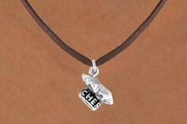 """<bR>               EXCLUSIVELY OURS!!<BR>CLICK HERE TO SEE 120+ EXCITING<BR>   CHANGES THAT YOU CAN MAKE!<BR>              LEAD & NICKEL FREE!!<BR>          W549SN - """"CHEF"""" HAT &<BR>       NECKLACE AS LOW AS $4.50"""