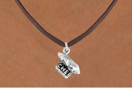 "<bR>               EXCLUSIVELY OURS!!<BR>CLICK HERE TO SEE 120+ EXCITING<BR>   CHANGES THAT YOU CAN MAKE!<BR>              LEAD & NICKEL FREE!!<BR>          W549SN - ""CHEF"" HAT &<BR>       NECKLACE AS LOW AS $4.50"