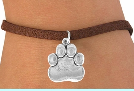 <bR>               EXCLUSIVELY OURS!!<BR>CLICK HERE TO SEE 120+ EXCITING<BR>   CHANGES THAT YOU CAN MAKE!<BR>              LEAD & NICKEL FREE!!<BR>       W557SB - SILVER TONE PAW<Br>    ON BRACELET AS LOW AS $4.50