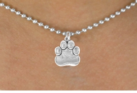 <bR>               EXCLUSIVELY OURS!!<BR>CLICK HERE TO SEE 120+ EXCITING<BR>   CHANGES THAT YOU CAN MAKE!<BR>              LEAD & NICKEL FREE!!<BR>      W557SN - SILVER TONE PAW<BR>   ON NECKLACE AS LOW AS $4.50