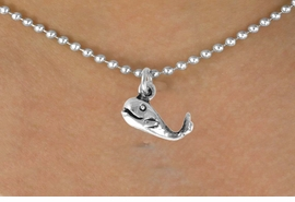 <bR>               EXCLUSIVELY OURS!!<BR>CLICK HERE TO SEE 120+ EXCITING<BR>   CHANGES THAT YOU CAN MAKE!<BR>             LEAD & NICKEL FREE!!<BR>    W558SN - WHALE & NECKLACE<BR>                   AS LOW AS $4.50