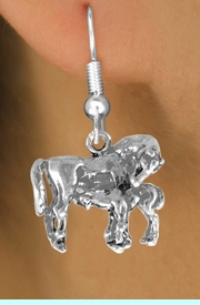 <bR>              EXCLUSIVELY OURS!!<BR>CLICK HERE TO SEE 120+ EXCITING<BR>   CHANGES THAT YOU CAN MAKE!<BR>              LEAD & NICKEL FREE!!<BR>        W563SE - MARE & FOAL ON<Br> EARRING FROM $4.50 TO $8.35