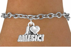"<bR>              EXCLUSIVELY OURS!!<BR>CLICK HERE TO SEE 120+ EXCITING<BR>   CHANGES THAT YOU CAN MAKE!<BR>              LEAD & NICKEL FREE!!<BR>       W567SB - ""I LOVE MUSIC"" &<Br>         BRACELET AS LOW AS $4.50"