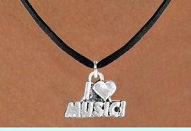 """<bR>              EXCLUSIVELY OURS!!<BR>CLICK HERE TO SEE 120+ EXCITING<BR>   CHANGES THAT YOU CAN MAKE!<BR>             LEAD & NICKEL FREE!!<BR>      W567SN - """"I LOVE MUSIC"""" &<BR>       NECKLACE AS LOW AS $4.50"""