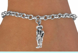 """<bR>                EXCLUSIVELY OURS!!<BR>  CLICK HERE TO SEE 120+ EXCITING<BR>     CHANGES THAT YOU CAN MAKE!<BR>                LEAD & NICKEL FREE!!<BR> W573SB - """"QUICK DRAW COWBOY""""<Br>       & BRACELET AS LOW AS $4.50"""