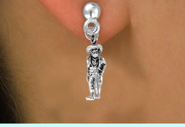 """<bR>                EXCLUSIVELY OURS!!<BR>  CLICK HERE TO SEE 120+ EXCITING<BR>    CHANGES THAT YOU CAN MAKE!<BR>               LEAD & NICKEL FREE!!<BR> W573SE - """"QUICK DRAW COWBOY""""<Br>      & EARRINGS FROM $4.50 TO $8.35"""