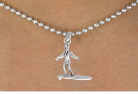 <bR>               EXCLUSIVELY OURS!!<BR>CLICK HERE TO SEE 120+ EXCITING<BR>   CHANGES THAT YOU CAN MAKE!<BR>              LEAD & NICKEL FREE!!<BR>         W583SN - SURFER GIRL &<BR>       NECKLACE AS LOW AS $4.50