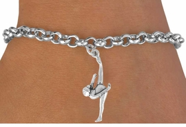 <bR> GYMNAST CHARM BRACELET - ADJUSTABLE<BR>    <BR>            CADMIUM,  LEAD, & NICKEL FREE<BR>     W585SB2 - FLOOR GYMNAST &<Br>        BRACELET  $9.68 EACH �2008