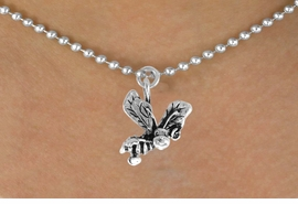 "<bR>               EXCLUSIVELY OURS!!<BR>CLICK HERE TO SEE 120+ EXCITING<BR>   CHANGES THAT YOU CAN MAKE!<BR>              LEAD & NICKEL FREE!!<BR>       W591SN -  ""SMILING BEE"" &<BR>        NECKLACE AS LOW AS $4.50"