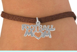 """<bR>               EXCLUSIVELY OURS!!<BR>CLICK HERE TO SEE 120+ EXCITING<BR>   CHANGES THAT YOU CAN MAKE!<BR>              LEAD & NICKEL FREE!!<BR>    W596SB - """"FOOTBALL MOM"""" &<Br>         BRACELET AS LOW AS $4.50"""