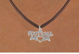 "<bR>               EXCLUSIVELY OURS!!<BR>CLICK HERE TO SEE 120+ EXCITING<BR>   CHANGES THAT YOU CAN MAKE!<BR>              LEAD & NICKEL FREE!!<BR>   W596SN - ""FOOTBALL MOM"" &<BR>        NECKLACE AS LOW AS $4.50"