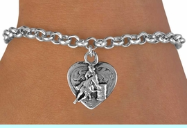 <bR>               EXCLUSIVELY OURS!!<BR>CLICK HERE TO SEE 120+ EXCITING<BR>   CHANGES THAT YOU CAN MAKE!<BR>              LEAD & NICKEL FREE!!<BR>  W599SB - BARREL RACER HEART<Br>     & BRACELET AS LOW AS $4.50