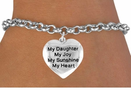 "<bR>              EXCLUSIVELY OURS!!<BR>CLICK HERE TO SEE 120+ EXCITING<BR>   CHANGES THAT YOU CAN MAKE!<BR>              LEAD & NICKEL FREE!!<BR>W600SB - ""MY DAUGHTER"" HEART<Br>      & BRACELET AS LOW AS $4.50"