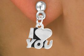 """<bR>             EXCLUSIVELY OURS!!<BR>CLICK HERE TO SEE 125+ EXCITING<BR>  CHANGES THAT YOU CAN MAKE!<BR>            LEAD & NICKEL FREE!!<BR>       W380SE - """"I LOVE YOU"""" &<Br>       EARRING FROM $4.50 TO $8.35"""
